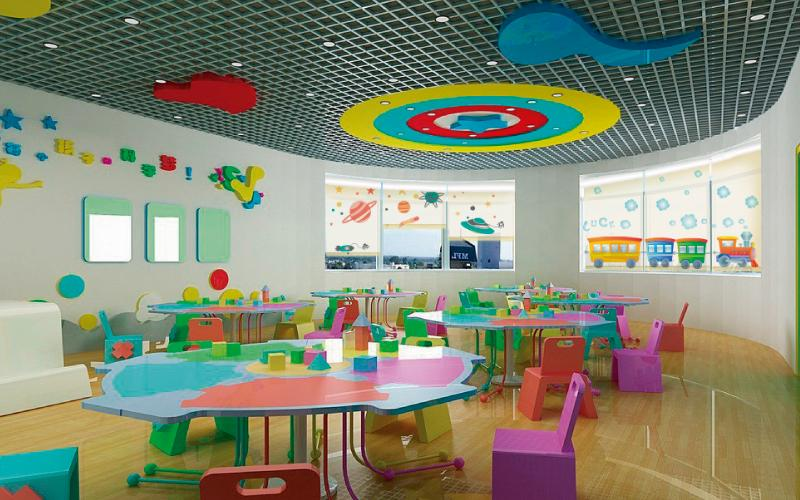 persianas impresas pentagrama en jardin de niños