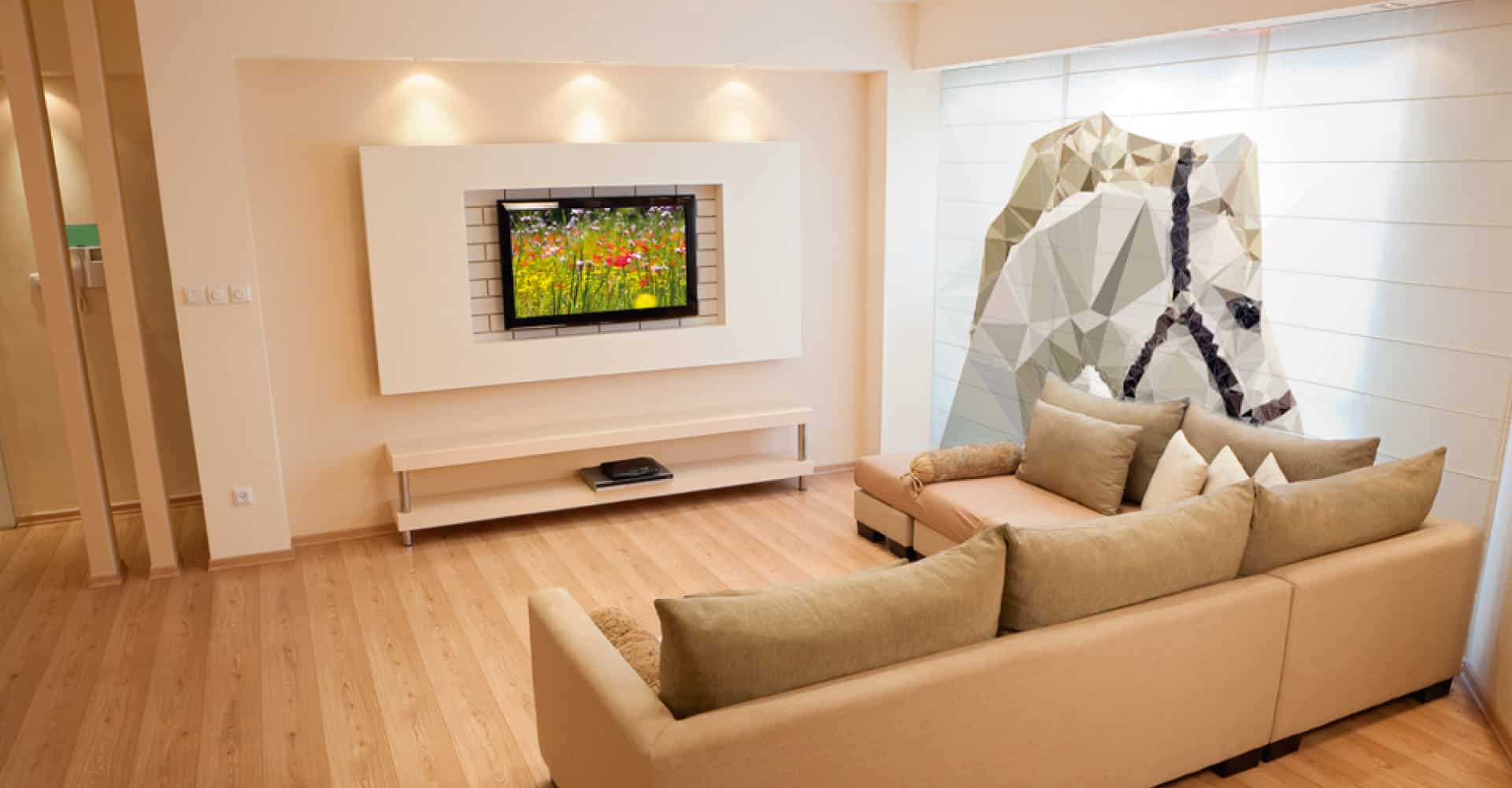 persianas impresas en sala de estar