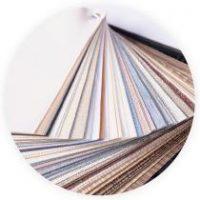 Abanico de telas y colores para persianas y cortinas Pentagrama