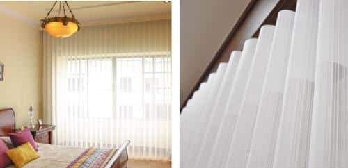 Muestra de unas cortina en velo Sheer Vertesse en una habitación moderna