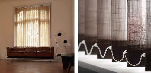 Muestra de tapetes decorativos en una sala
