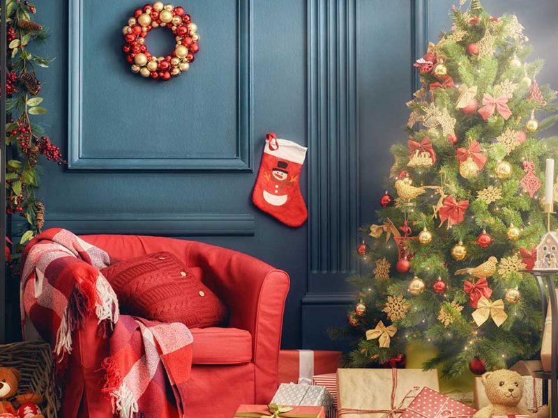 Decoración para navidad estilo tradicional