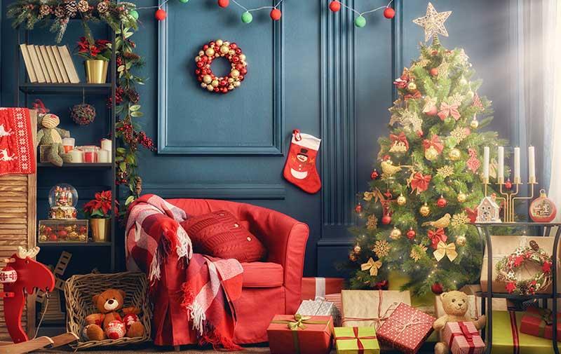 Estilo decorativo para navidad festiva