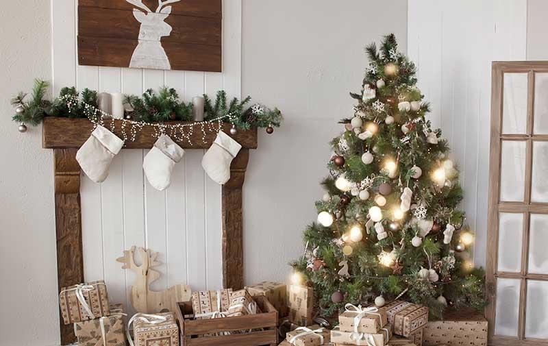 Estilo decorativo para navidad natural