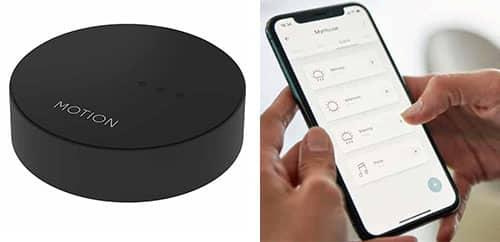 Control Wi-Fi con tel'efono inteligente usando la aplicación para accionar las persianas motorizadas